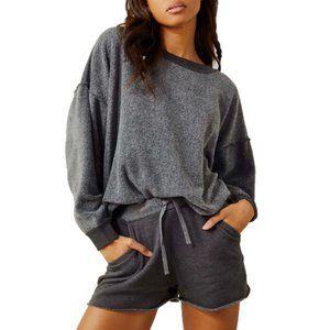 NWT $178 Free People Kelly washed sweatshirt set sz S